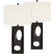 Exceptional Designs by Flash Maxine Black Poly Table Lamp, Set of 2
