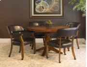 Castored Dining Set Antique Cherry w/ Dark Mocha Vinyl Product Image