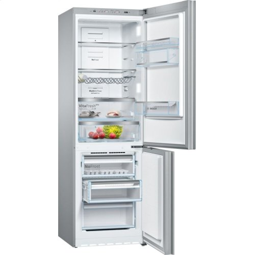 "800 Series 24"" Glass Door Counter-Depth Bottom Freezer B10CB80NVS 800 Series"