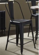 Bow Back Counter Chair - Black (RTA) Product Image