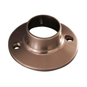 Round Shower Rod Flange - Satin Nickel