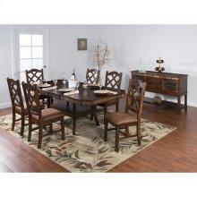 Santa Fe Adj. Height Dining Table W/ Dbl Btfly Leaf