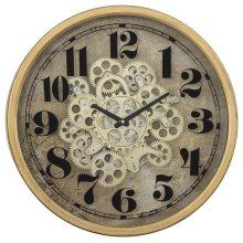 Gold Round Gear Clock