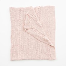 Classic Knit Throw - Crepe