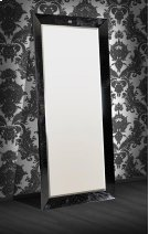 A&X Regal - Modern Black Crocodile Lacquer Mirror Product Image