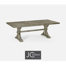 """90"""" Solid Rustic Grey Dining Table"""