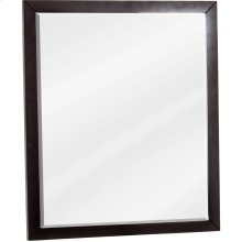 "24"" X 28"" Mirror with beveled glass and Black finish."