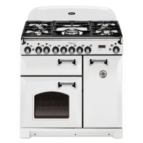 """Vintage White with cathedral doors AGA Legacy 36"""" Dual-Fuel Range"""