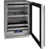 """U-Line 5 Class 24"""" Beverage Center With Stainless Frame Finish And Field Reversible Door Swing (115 Volts / 60 Hz)"""