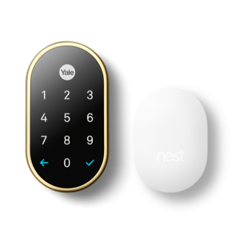 Nest x Yale Lock with Nest Connect, Polished Brass