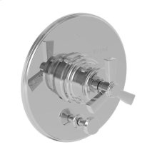 Weathered Copper - Living Balanced Pressure Tub & Shower Diverter Plate with Handle. Less Showerhead, arm and flange.