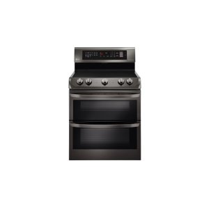 LG AppliancesLG Black Stainless Steel Series 7.3 cu. ft. Electric Double Oven Range with ProBake Convection(R), EasyClean(R)