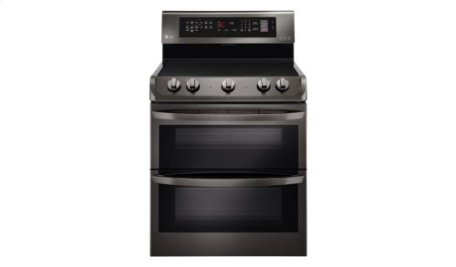 LG Black Stainless Steel Series 7.3 cu. ft. Electric Double Oven Range with ProBake Convection®, EasyClean®