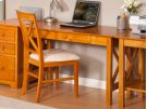 Lexi Desk with Drawer in Caramel Latte Product Image
