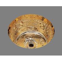 B0575 - Small Round Bar Sink - Garland Pattern - Antique Brass