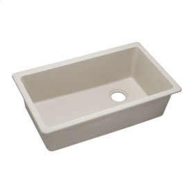 "Elkay Quartz Classic 33"" x 18-3/4"" x 9-1/2"", Single Bowl Undermount Sink, Bisque"