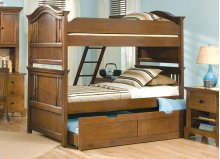 Full Over Full Bunk Bed Shown With Optional Trundle Storage