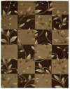 CONTOUR CON20 BROWN RECTANGLE RUG 3'6'' x 5'6''