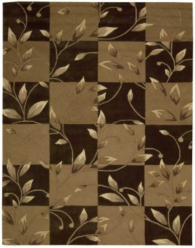 CONTOUR CON20 BROWN RECTANGLE RUG 5' x 7'6''