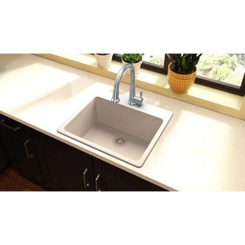 """Elkay Quartz Classic 25"""" x 22"""" x 9-1/2"""", Single Bowl Drop-in Sink, Putty"""