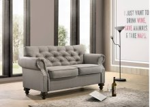 9108 Gray Loveseat