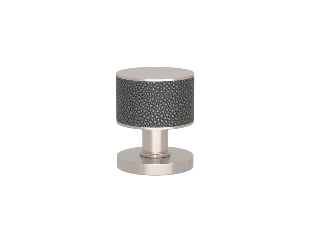 Stacked Shagreen Recess Amalfine In Alupewt And Polished Nickel