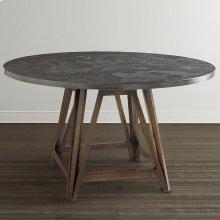 "Custom Dining 48"" Stone Table w/Turned Base"