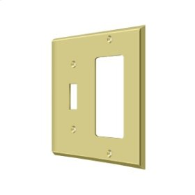 Switch Plate, Single Switch/Single Rocker - Polished Brass