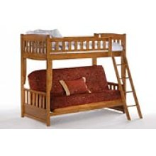 Cinnamon Futon Bunk in Medium Oak Finish