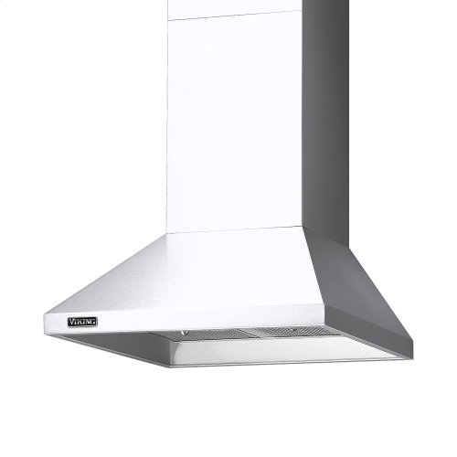 "30"" Wide Chimney Wall Hood + Ventilator"