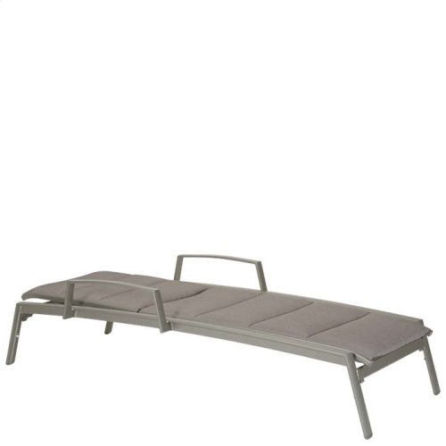Elance Padded Chaise Lounge with Arms