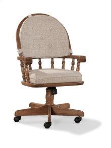 Classic Oak Tilt Swivel Game Chair