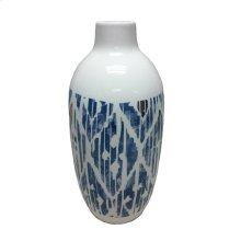 Ceramic White/blue Vase
