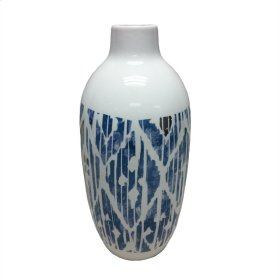 Ceramic White/blue Vase