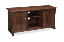 "Garrett TV Console with Wood Doors and Open Center, Garrett TV Console with Wood Doors and Open Center, 72""w"