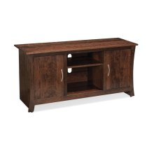 "Garrett TV Console with Wood Doors and Open Center, 60"", Cherry"