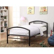 Baines Black Metal Bed