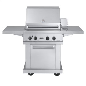 """Stainless Steel 30"""" Ultra-Premium T-Series Grill with TruSear Infrared Burner - VGIQ (30"""" wide with one standard 25,000 BTU stainless steel burner and one 30,000 BTU TruSear infrared burner (Natural Gas))"""