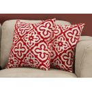 "PILLOW - 18""X 18"" / RED MOTIF DESIGN / 2PCS Product Image"