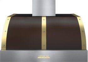 Hood DECO 36'' Brown matte, Gold 1 power blower, electronic buttons control, baffle filters