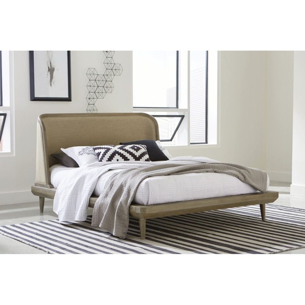 Spindle C. King Upholstered Bed