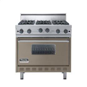 "Stone Gray 36"" Open Burner Range - VGIC (36"" wide, six burners)"