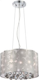 Ceiling Lamp, Chrome Metal/crystal, Type Jcd/g9 40wx5 Product Image