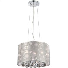 Ceiling Lamp, Chrome Metal/crystal, Type Jcd/g9 40wx5
