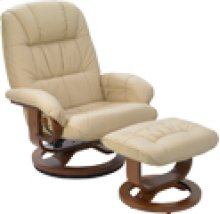R-028 Mario Buff Leather Recliner