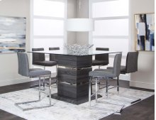 Gamma 7pc Pub Dining Set: Table & 6 Chairs