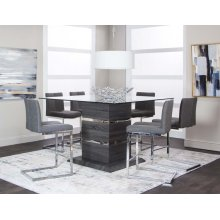 Gamma 7 Piece Pub Dining Room Set: Table & 6 Chairs
