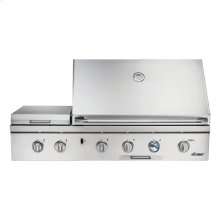 """Discovery 52"""" Outdoor Grill, in Stainless Steel with Chrome Trim, includes Sear Burner, for use with Liquid Propane"""