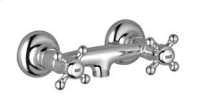 Shower mixer for wall-mounted installation - chrome