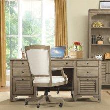 Myra - Executive Desk - Natural Finish